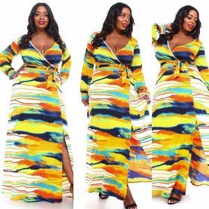 Plus Size Tye Dye Maxi Dress